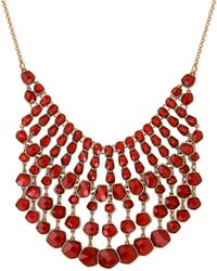 Lucky Brand - Caseline Beaded Gem Statement Necklace - Lyst