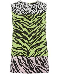 Moschino Cheap & Chic Animal Print Colour Block Top - Lyst