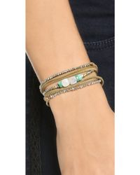 Pascale Monvoisin - Clemence Wrap Bracelet - Pyrite/Gold/Silver/Brown - Lyst
