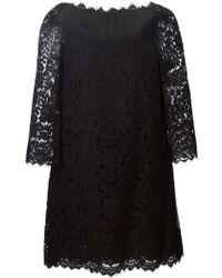 Dolce & Gabbana Floral-Lace Dress - Lyst