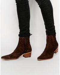 Jeffery West - Suede Chelsea Boots - Lyst