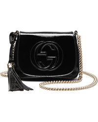 Gucci Soho Patent Leather Chain Shoulder Bag - Lyst