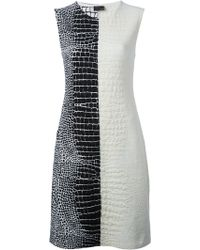 Fendi Textured Monochrome Dress - Lyst