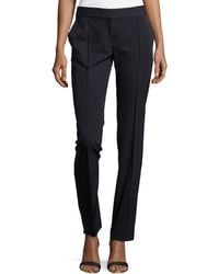 Stella McCartney Pinstripe Wool-Blend Slim-Fit Pants - Lyst