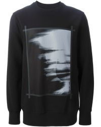 Helmut Lang 'Ghost' Mesh Panel Sweatshirt black - Lyst