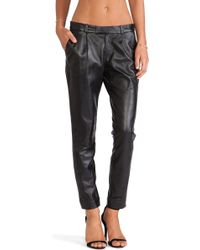 RED Valentino Straight Leg Leather Pants - Lyst