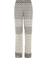 Missoni Crochetknit Wideleg Pants - Lyst