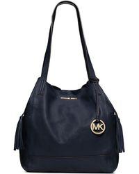 Michael Kors Ashbury Leather Extra Large Shoulder Bag - Lyst