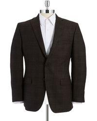Calvin Klein Brown Checked Jacket - Lyst
