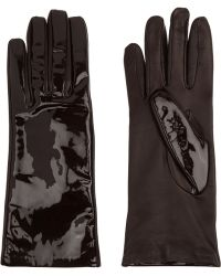 Causse Gantier - Jackie Matte And Patent-leather Gloves - Lyst