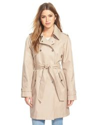 DKNY - Double Breasted Trench Coat - Lyst