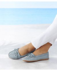 ad1abb27545 DAMART Coussin D air Slip-on Wide Fit Moccasins in Blue - Lyst