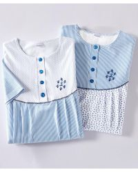 DAMART - Pack Of 2 Cotton Nightdresses - Lyst