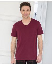 DAMART - V-neck T-shirt - Lyst