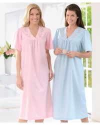 DAMART - Pack Of 2 Embroidered Nightdresses - Lyst