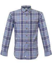 Matíníque - Allan Utility Blue Check Shirt - Lyst