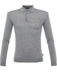 Matíníque - Klint Grey Ls Polo Shirt 30201249 - Lyst