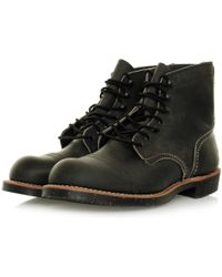 Red Wing - Iron Range 8116 Charcoal Leather Boots - Lyst