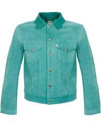 Levi's - Levi's Vintage 1960's Suede Turquoise Trucker Jacket - Lyst
