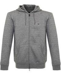 Armani Jeans - Full Zip Hoodie - Lyst