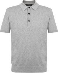 Rag & Bone - Mason Grey Polo Shirt M2726238x - Lyst