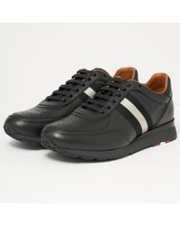 Bally - Aston Leather Trainers - Black - Lyst
