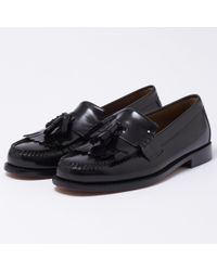 G.H. Bass & Co. - Layton Black Moc Kiltie Leather Loafer Shoes Ba11020 - Lyst