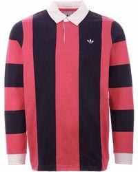 adidas Originals - Contrast Stripe Rugby Shirt - Lyst