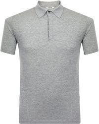 J.Lindeberg - Mikael Grey Polo Shirt 73mc720587024 - Lyst