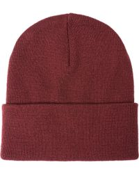 4e5c137e9c7 Lyst - Edwin Shackle Charcoal Wool Cable Knit Beanie Hat I020463 for Men