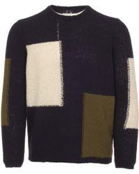 Folk | Men's Panel Knitted Jumper | Lyst