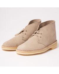 Clarks - Desert Boot - Sand Suede - Lyst