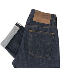 Naked & Famous - Naked And Famous Weird Guy Dirty Fade Indigo Denim Jeans 018533 - Lyst