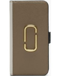 Marc Jacobs - Snapshot French Grey Multi Cross Grain Leather Iphone Xr Case - Lyst