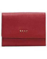 DKNY - Chelsea Red Pebbled Leather Purse - Lyst