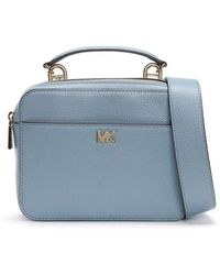 Michael Kors - Guitar Pale Blue Pebbled Leather Cross-body Bag - Lyst