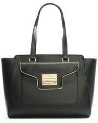 Love Moschino - Mel Black Front Pocket Tote Bag - Lyst