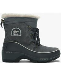 Sorel - Torino Quarry & Cloud Grey Lace Up Ankle Boots - Lyst