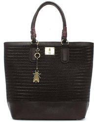 Fly London - Lile Dark Brown Woven Shopper Bag - Lyst