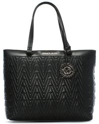 Versace Jeans - Tilly Black Quilted Tote Bag - Lyst
