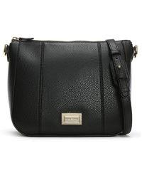 Emporio Armani - Spalla Pebbled Black Cross-body Bag - Lyst