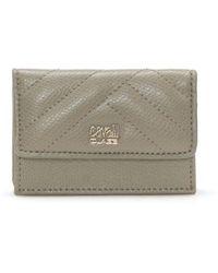 Class Roberto Cavalli | Mini Beige Textured Leather Purse | Lyst