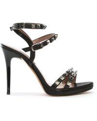 Albano - Newell Black Studded Stiletto Sandals - Lyst