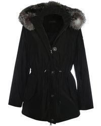 Oakwood - Alpine Black Fur Trim Hooded Parka - Lyst