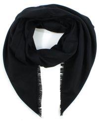 Daniel - Luxe Silk Mix Black Scarf - Lyst