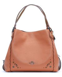 COACH - Edie 31 Dark Blush Pebbled Leather Prairie Rivet Shoulder Bag - Lyst