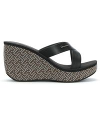 Ipanema - Straps Black Wedge Sandals - Lyst