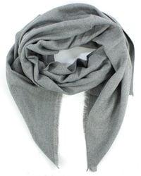 Daniel - Luxe Silk Mix Grey Scarf - Lyst