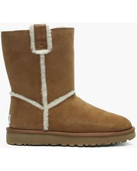 UGG - Classic Short Spill Seam Chestnut Twinface Ankle Boots - Lyst