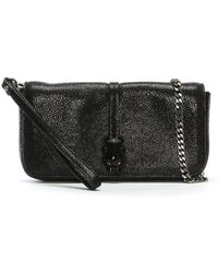 Class Roberto Cavalli - Black Reptile Leather Evening Bag - Lyst